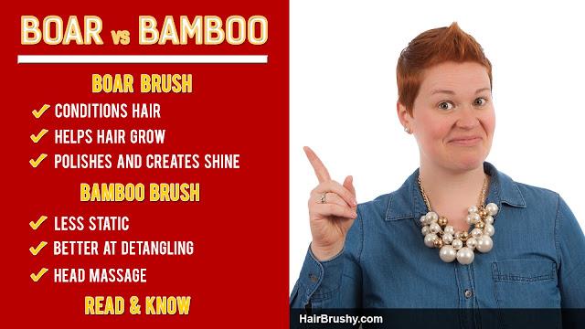 Boar bristle brush vs bamboo brush
