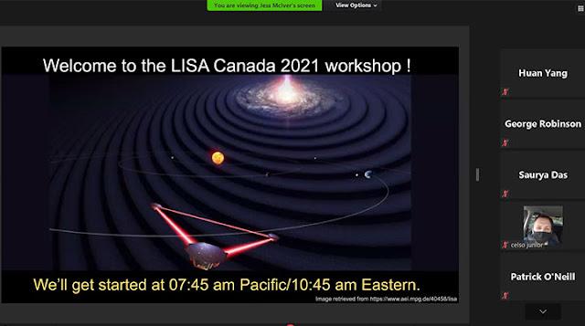Waiting for the LISA Canada 2021 Workshop  (Source: Canada 2021 Workshop)