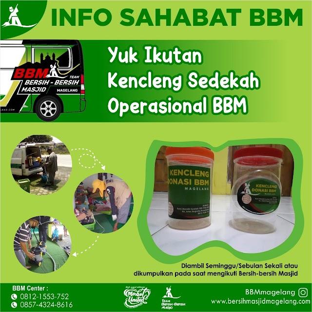 Kencleng Sedekah Operasional Bersih-Bersih Masjid Magelang