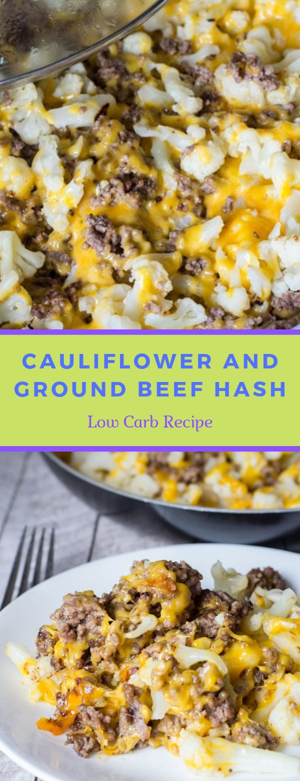 Cauliflower and Ground Beef Hash - Low Carb Recipe #CAULIFLOWER #LOWCARB