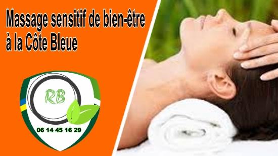 Massage sensitif de bien-être à la Côte Bleue;