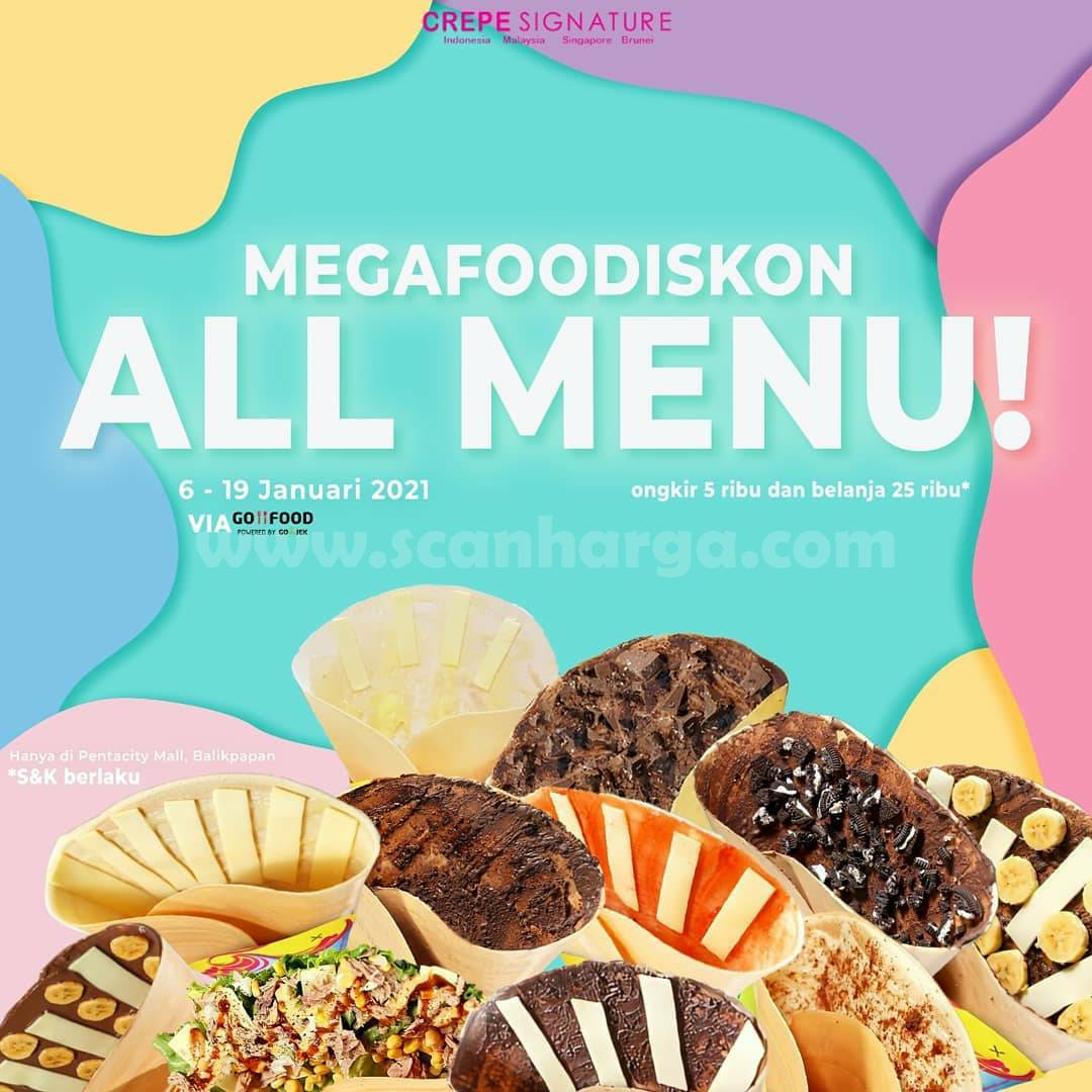CREPE SIGNATURE Promo MEGA FOODISKON – All Menu khusus via GOFOOD