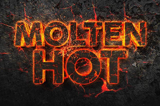 texto volcánico gratis para photoshop