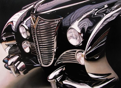 06-Chrysler-2-Cheryl-Kelley-Chrome-Muscle-Cars-Hyper-realistic-Paintings-www-designstack-co