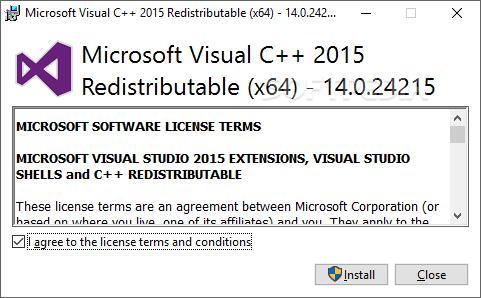 microsoft visual c++ 2018 redistributable x86 download