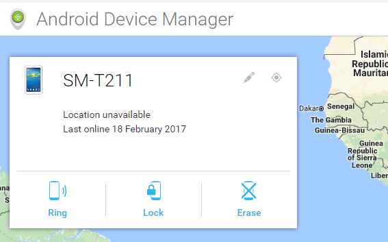 unlock android device manager