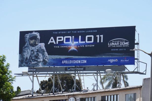 Apollo 11 Lunar Dome Rose Bowl billboard