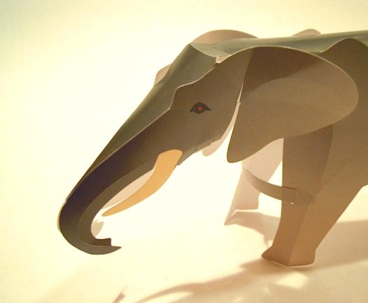 An Elephant A Day Elephant No 166 Pre Fab Cardboard