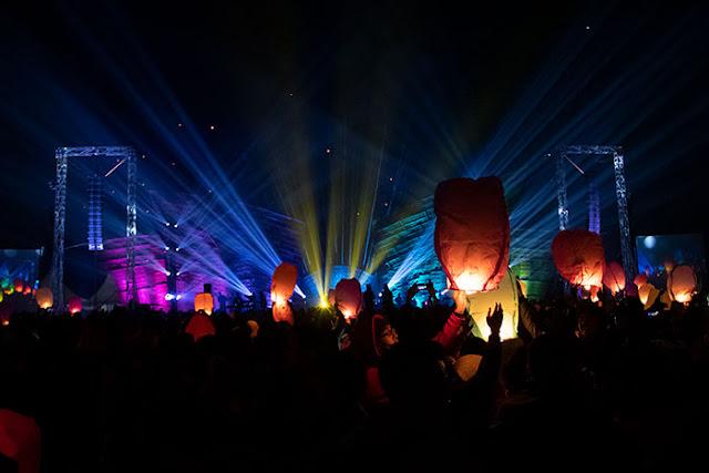 Lampion Terbang pada Dieng Culture Festival 2019