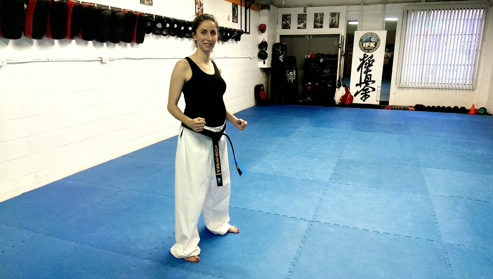 CONTACT KICKS MARTIAL ARTS: Karate while six months pregnant !