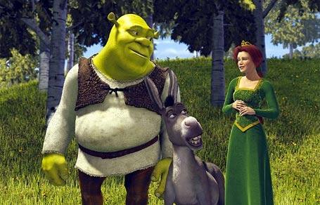 Shrek the Third (2007) Shrek, the donkey and Fiona