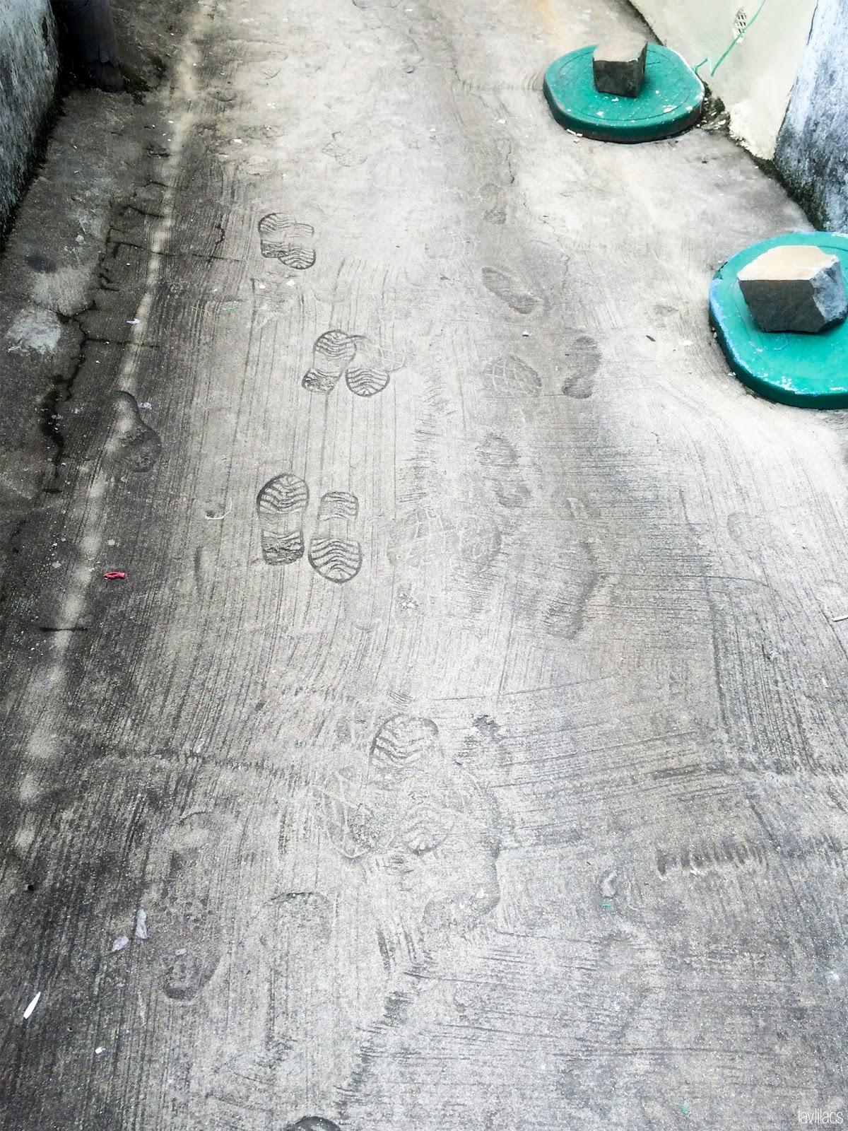 Seoul, Korea - Summer Study Abroad 2014 - Gamcheon Culture Village footprints