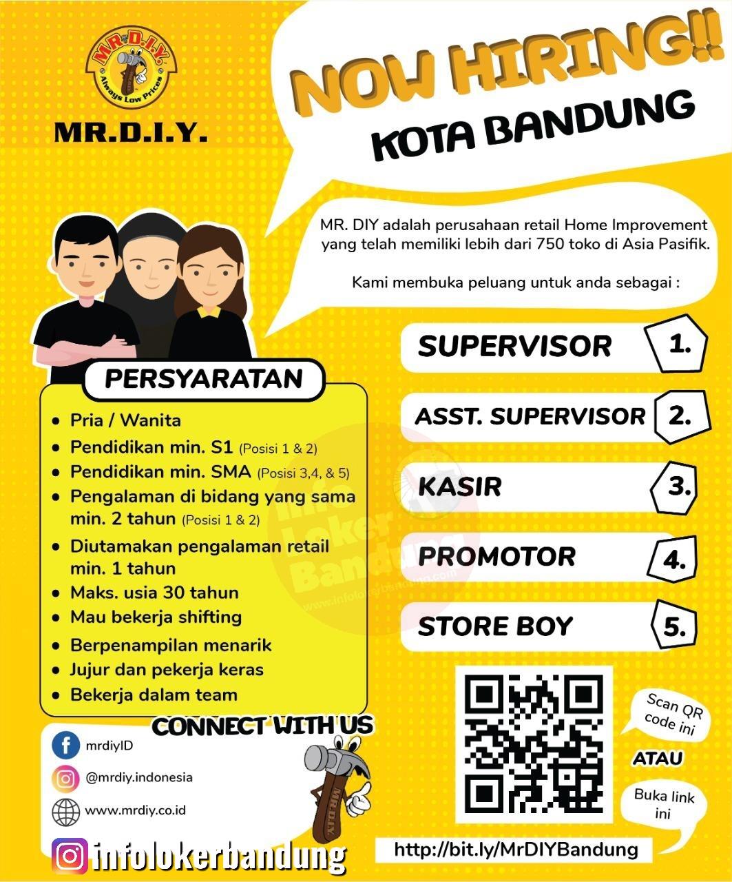 Lowongan Kerja MR DIY Bandung Januari 2020