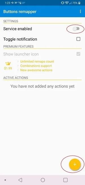 كيفية حظر أزرار الصوت على أزرار Android Remapper Plus