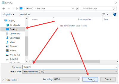 cara reset hosts windows 10