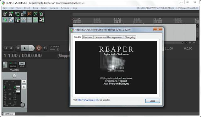 Screenshot Cockos REAPER 5.984 Full Version