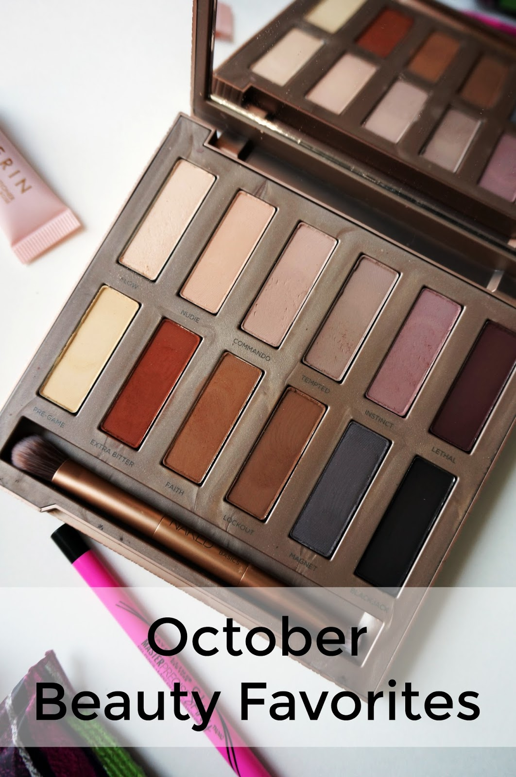 Rebecca Lately October Beauty Favorites Urban Decay Aerin Maybelline Wet 'n' Wild Bobbi Brown