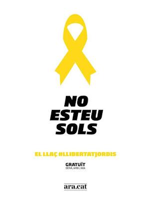 No esteu sols, lazo amarillo, políticos presos