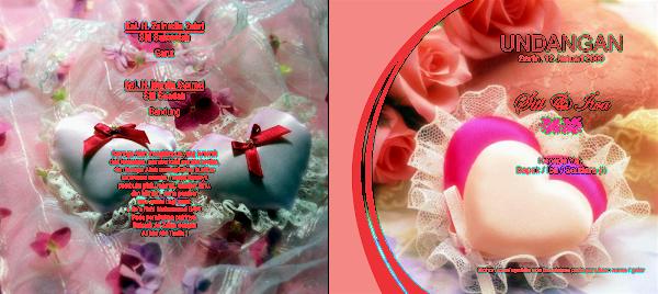 Desain Gratisan Undangan Pernikahan Motif Bunga Merah