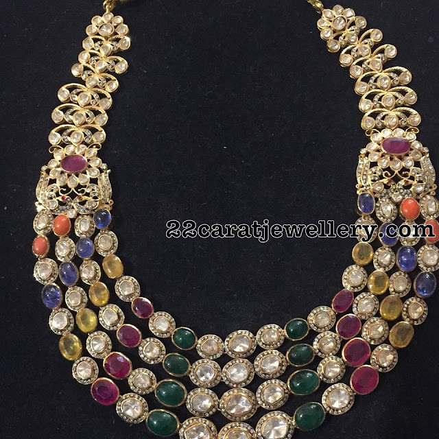 Multiple Layers Gemstones Long Chains