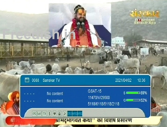 Know sanskar tv channel number and satellite frequency on DD Free dish