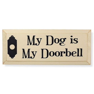 Funny dog pictures ; My Dog is my Doorbell