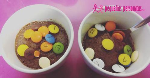 mug cake, chocolate, lacasitos, receta, alimentacion,