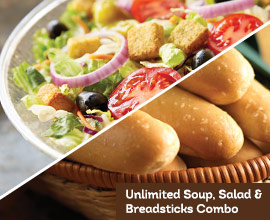 Saving With Sara Olive Garden Unlimited Soup Salad Breadsticks Lunch Combo Valid