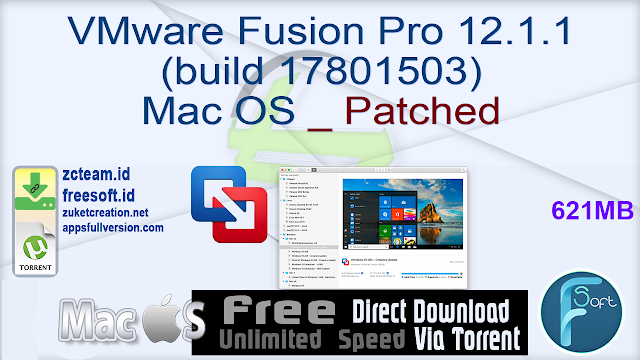 VMware Fusion Pro 12.1.1 (build 17801503) Mac OS _ Patched