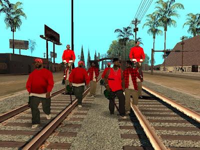 GTA San Andreas Grove Street Red Mod 2021