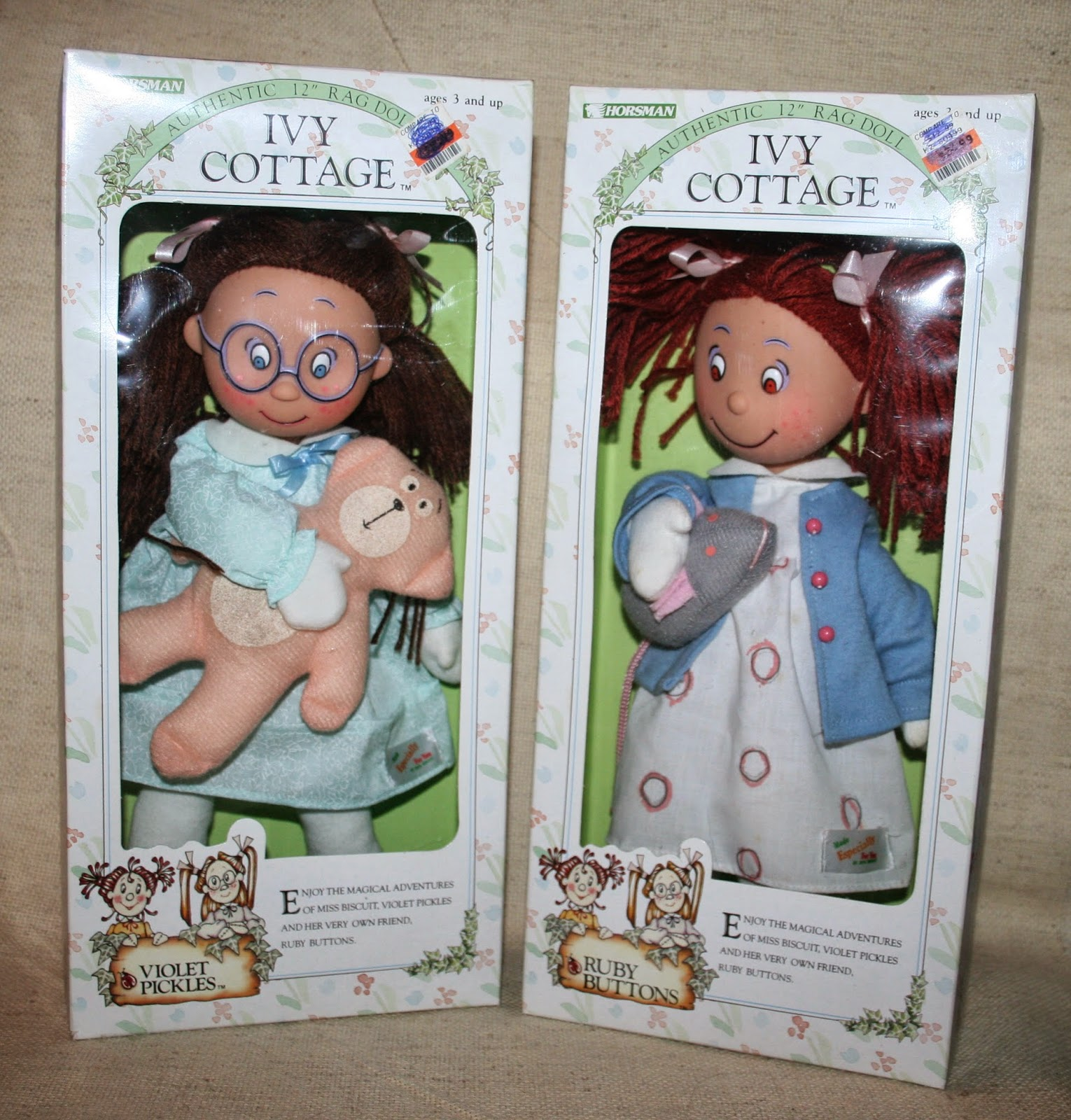 67c7ddf35d0e Today s doll is two dolls again  These two rag dolls named Violet Pickles  and Ruby Buttons.