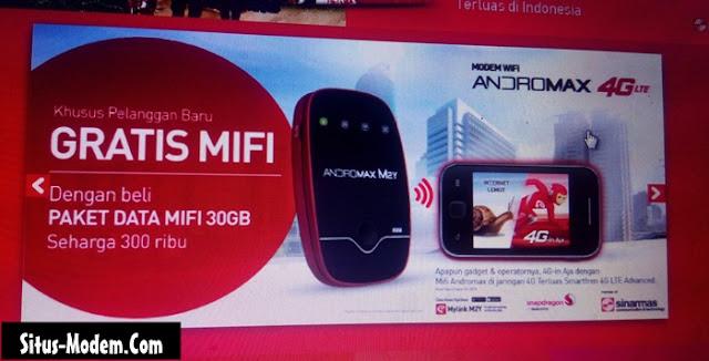 Baru !!! Beli Kuota Besar 30 GB Smartfren Gratis MIFI Andromax 4G LTE