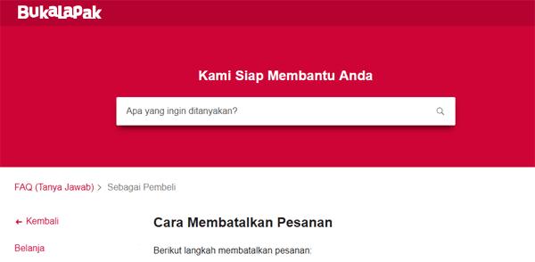 website resmi bukalapak untuk melakukan cancel pesanan