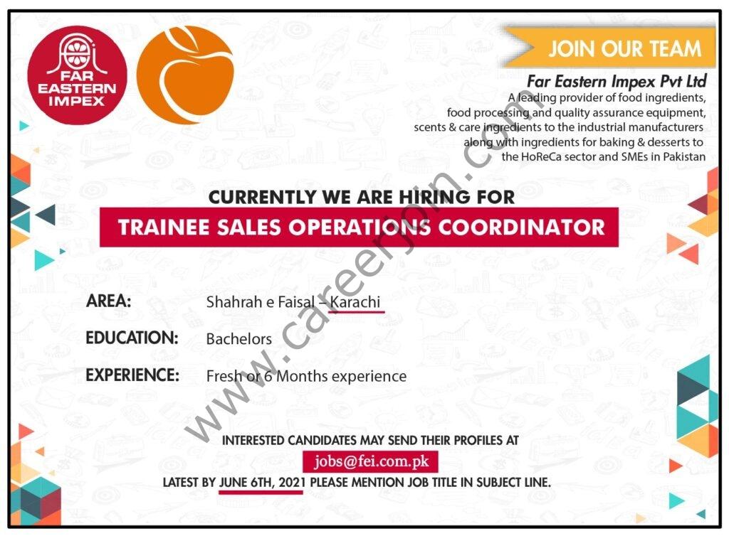 jobs@fei.com.pk - Far Eastern Impex Private Ltd Jobs 2021 in Pakistan
