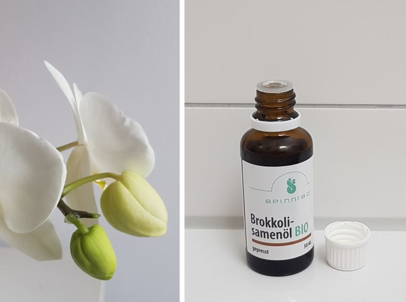 Brokkolisamenöl-Haarglanz ohne Silikone