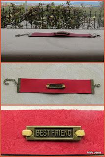LoveLea's best friend bracelet in red leather