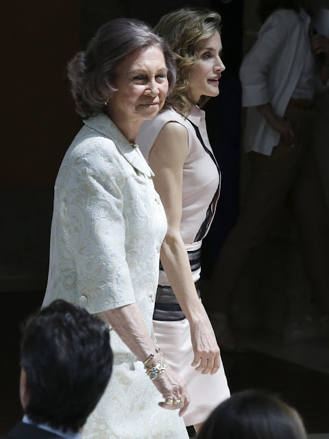 Queen Letizia and Queen Sofia attends the conmemorative ceremony of the Aid against Drug Addiction Foundation