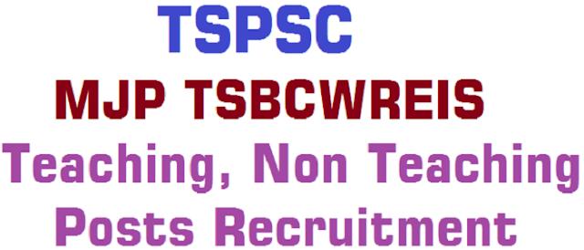 TSPSC,MJP TSBCWREIS,Teaching, Non Teaching Posts