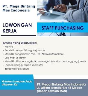 Staff Purchasing di PT Mega Bintang Mas Indonesia
