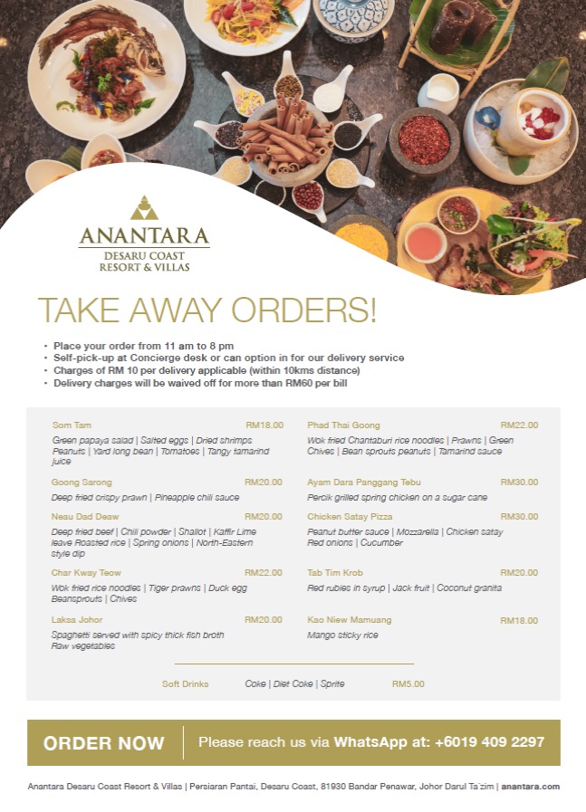 Anantara Desaru Coast Resort & Villas Shares Experiences and Offerings to Enjoy At Home