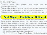 Rekrutmen Bank Nagari - Juli 2019 (Pendaftaran Online)