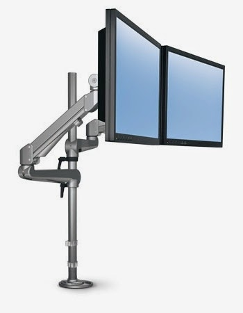 2 Screen Pole Mounted Monitor Arm by ESI