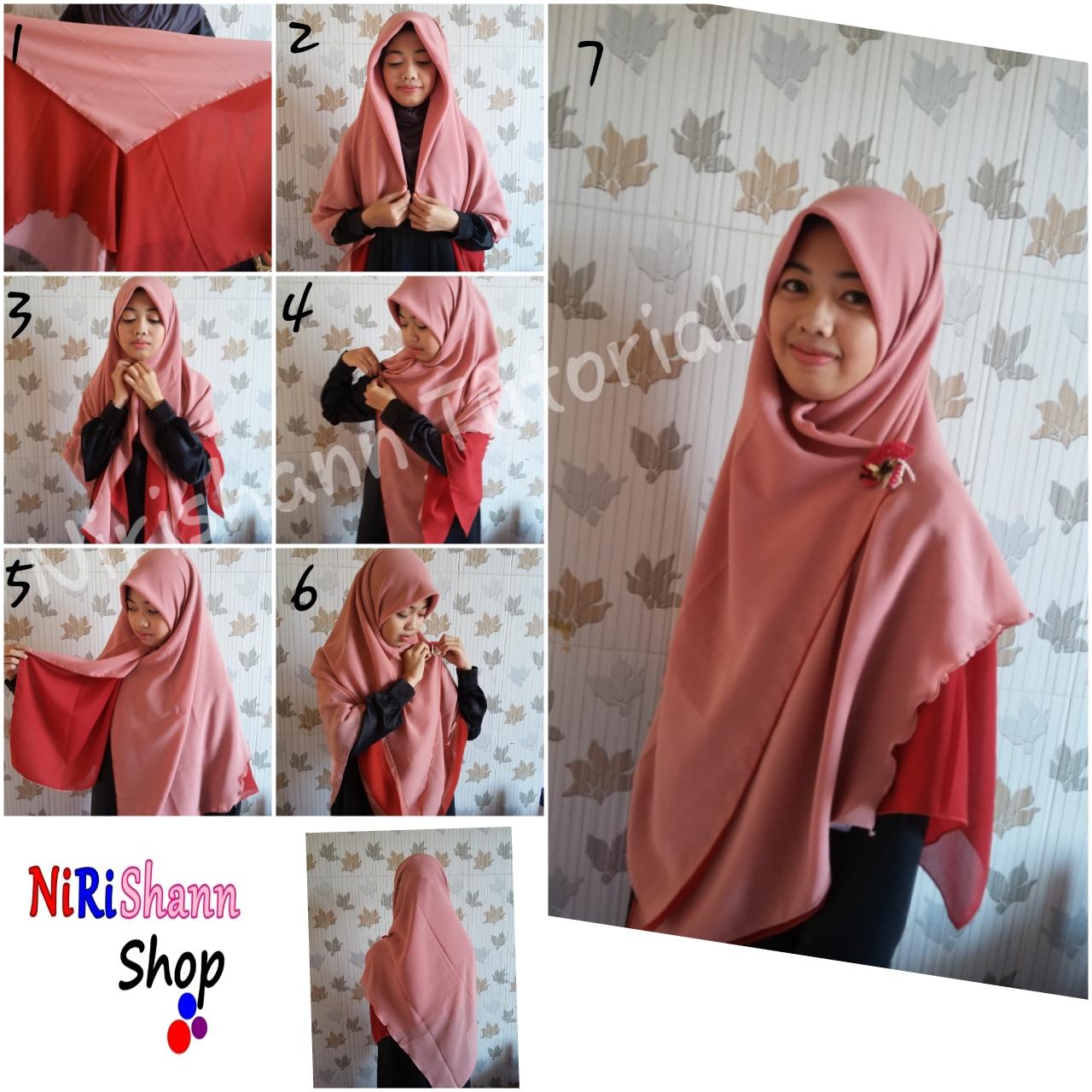 Hijab Simple Bandung By Nirishann Shop TUTORIAL HIJAB SYARI