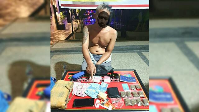 Polda NTB Tangkap Pengedar Narkoba beserta BB 1 kg Ganja