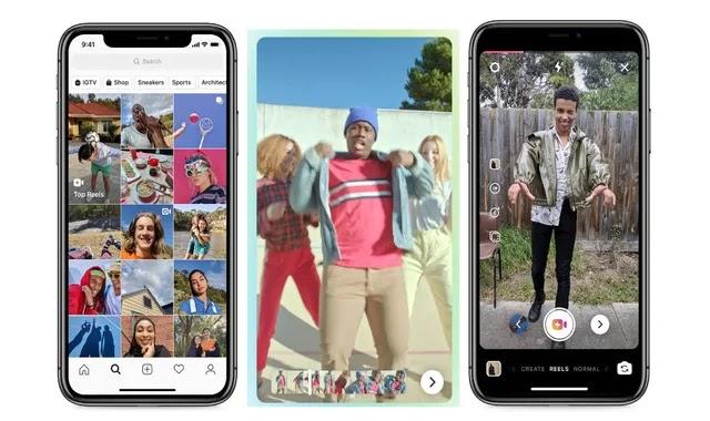 Instagram integrate Reels' videos into Facebook feed