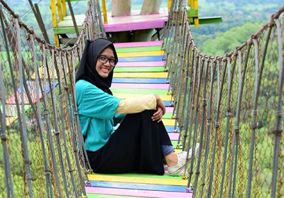 Jembatan di Bukit Cinta Klaten