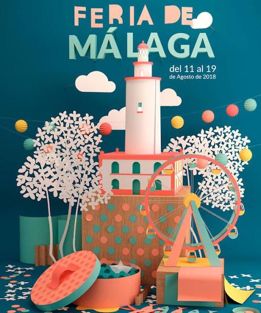 Atractivo cartel de la Feria de Málaga
