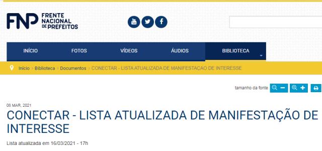 Ilha Comprida manifestou interesse na adesão ao consórcio público para aquisição de vacinas covid-19