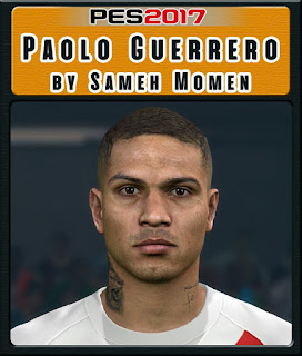 PES 2017 Faces Paolo Guerrero by Sameh Momen
