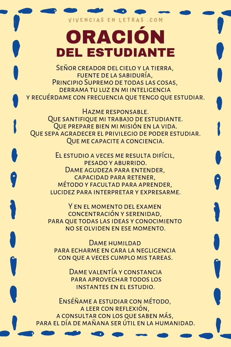 Imagen con oración del estudiante